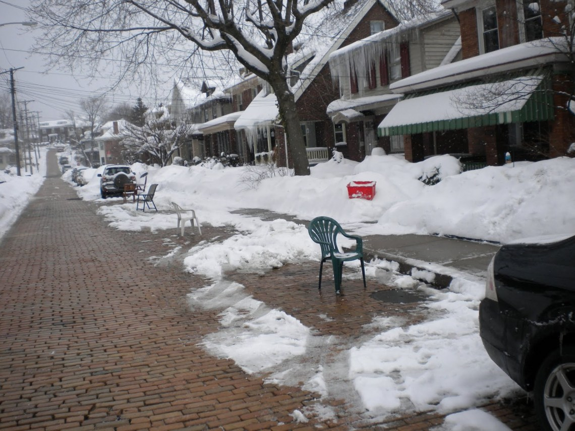 Image result for chair in parking space