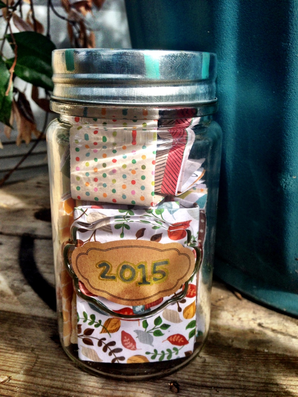 new year intention jar